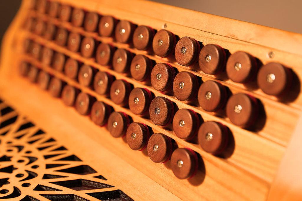 Knöpfe der Steirischen Harmonika Rumberger Cassotto 50/23 R