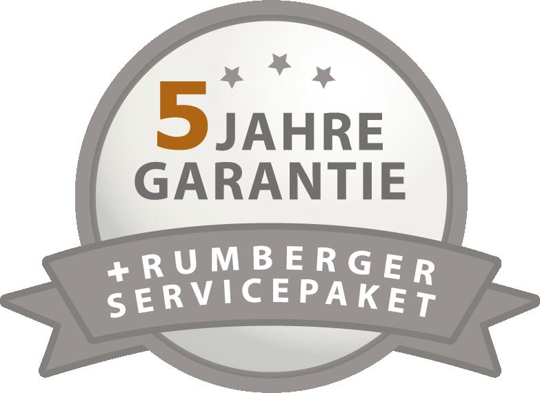 5 Jahre Garantie + Rumberger Servicepaket