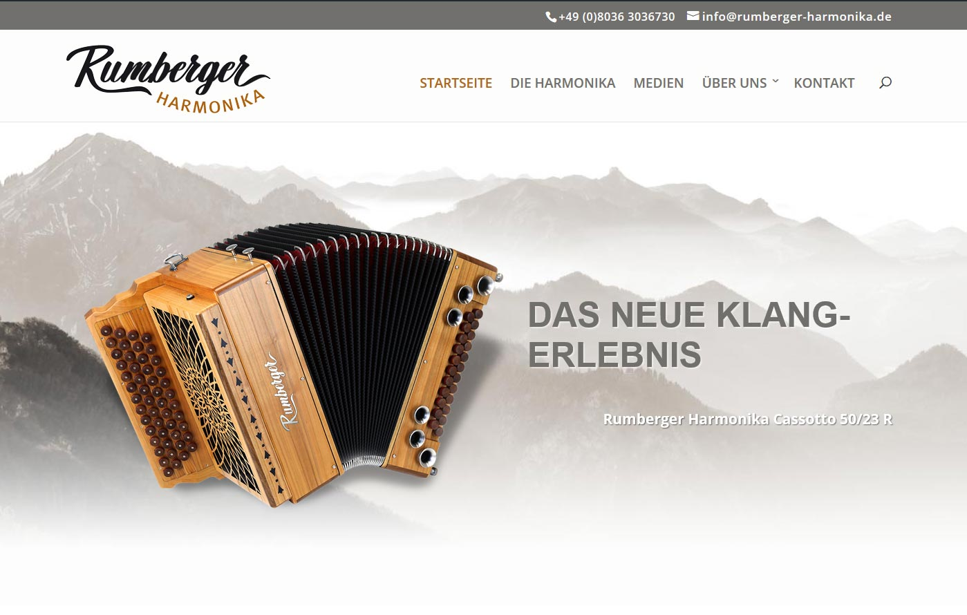 Neue Homepage für die Rumberger Harmonika Cassotto 50/23 R